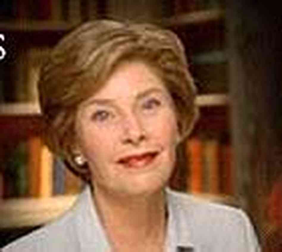 Laura Bush appears in a new Bush campaign ad