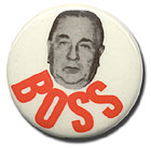 Campaign Button for Chicago 'Boss' Richard Daley