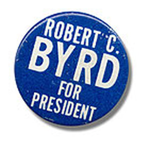 Campain Button for Robert Byrd