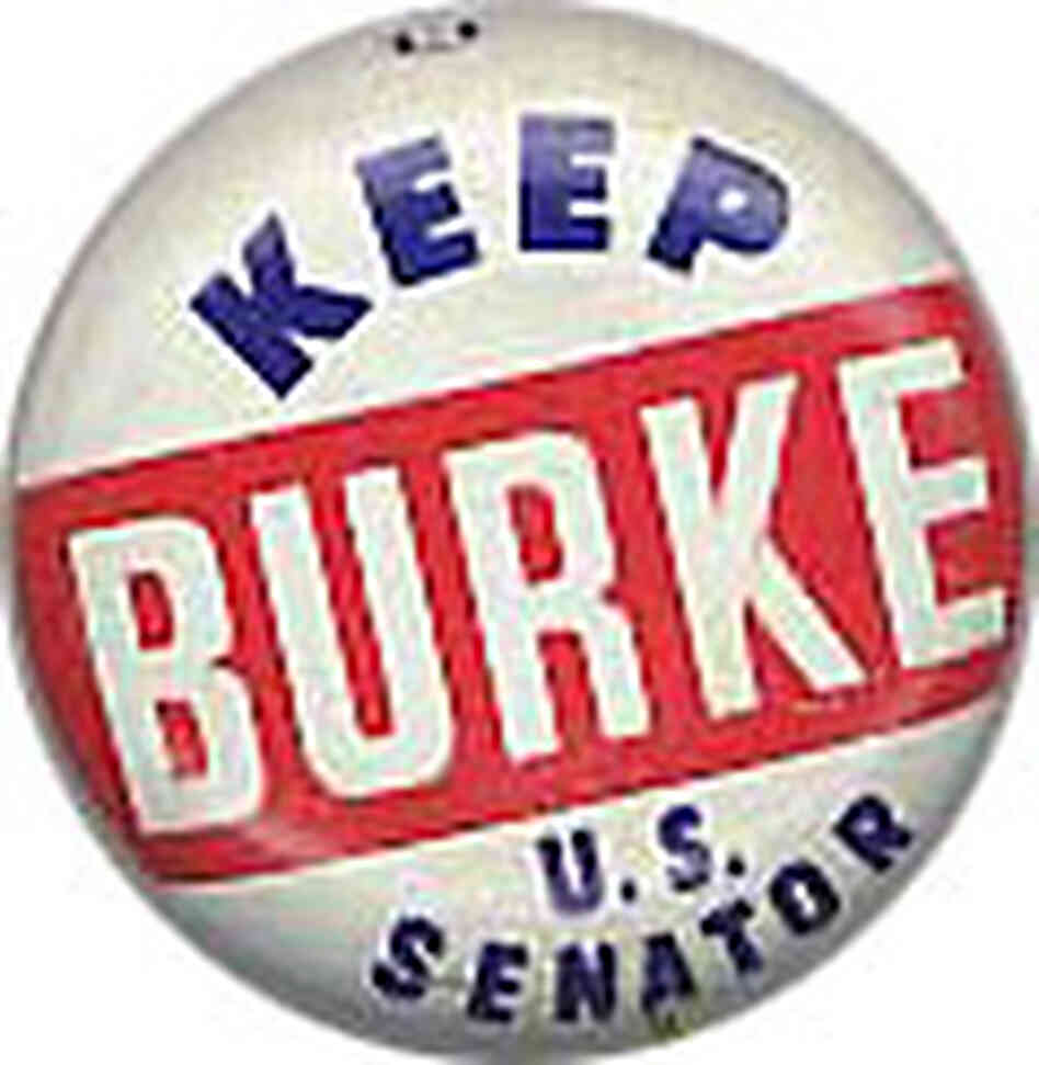 Fifty-one years ago today, Burke's appointment changed the partisan makeup of the Senate.