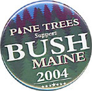 Bush is hoping to win at least one electoral vote in Maine.