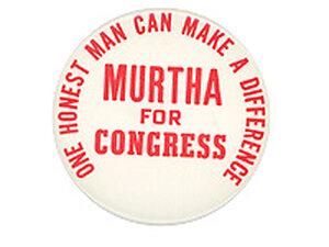 Murtha for  Congress Button
