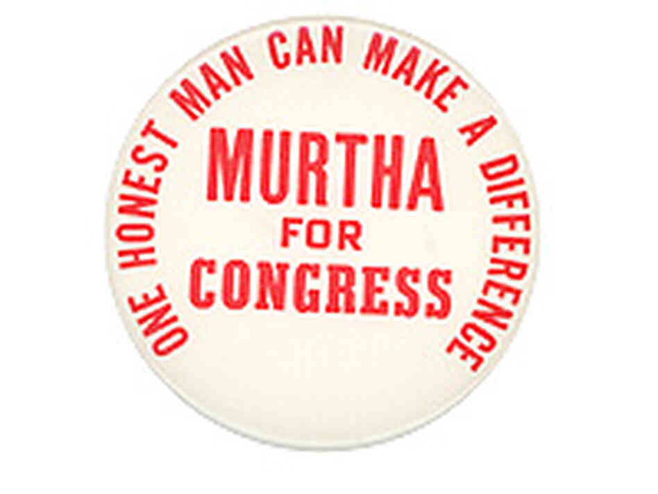 Murtha for  Congress Button