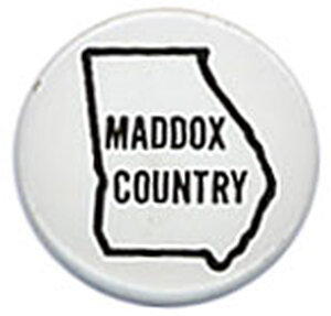 Lester Maddox was elected governor by the state legislature, not the voters.