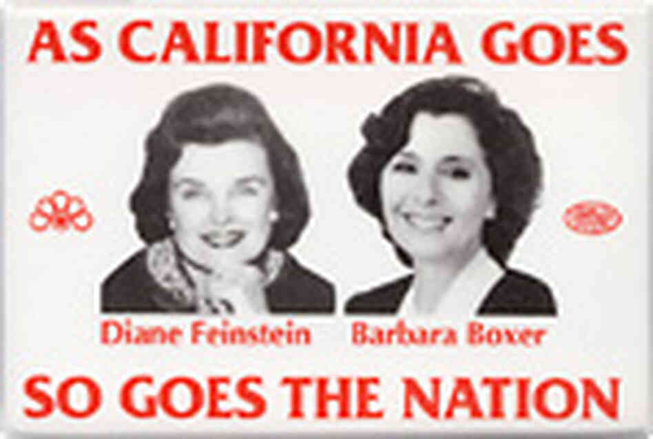 Dianne Feinstein/Barbara Boxer button
