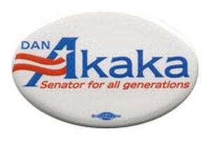 Dan Akaka button