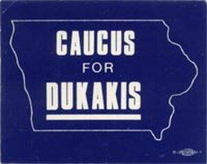 Michael Dukakis button