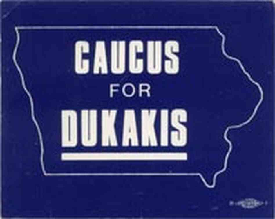Michael Dukakis button
