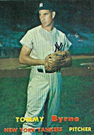 Tommy Byrne baseball card