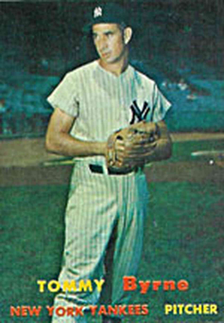 Tommy Byrne baseball card