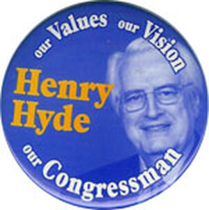 A principled opponent of abortion, Hyde led the impeachment effort against President Clinton in 1998.