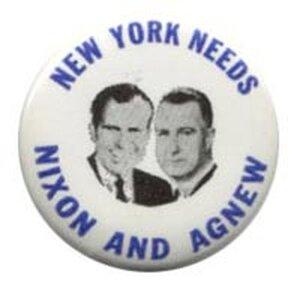 Nixon and Agnew button
