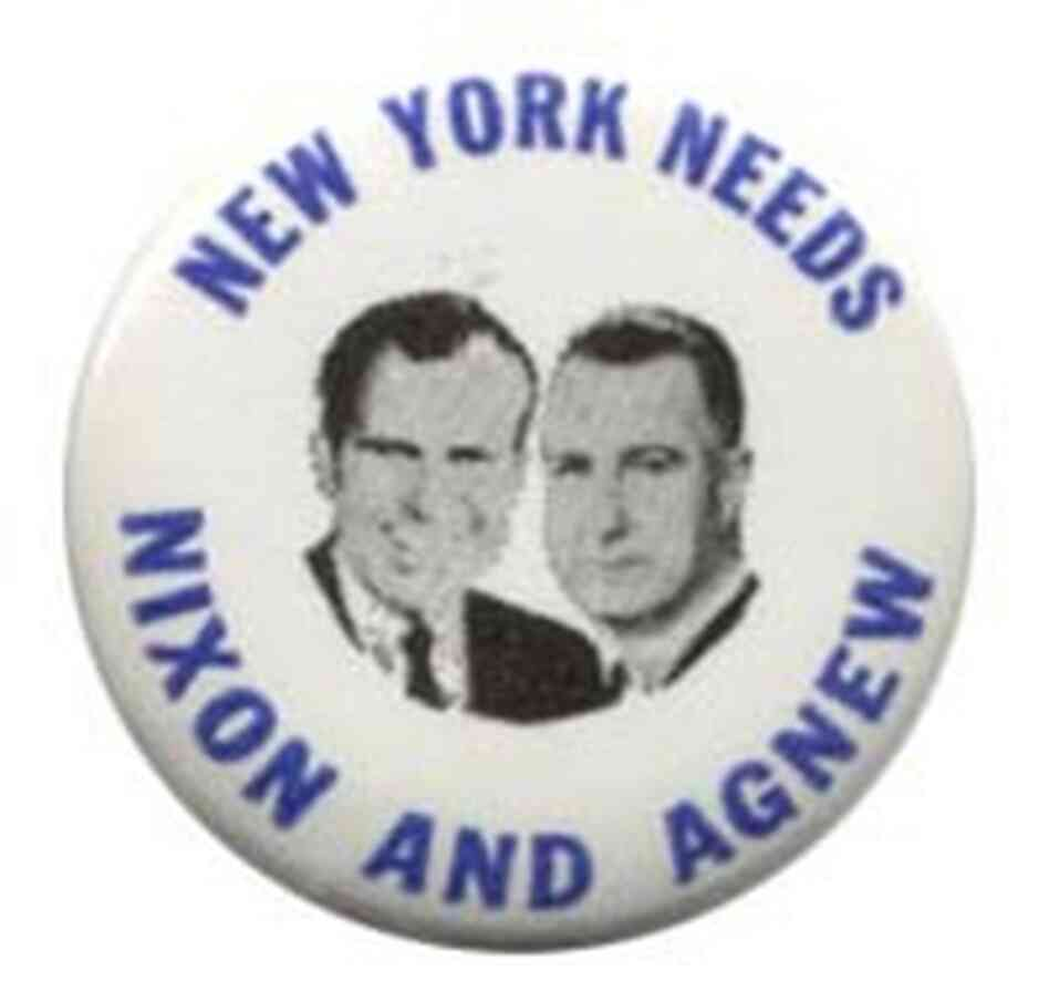 Nixon and Agnew button