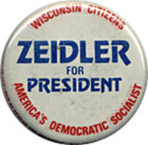 A former Socialist mayor of Milwaukee, he was the Socialist Party's presidential candidate in 1976.