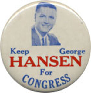 George Hansen button