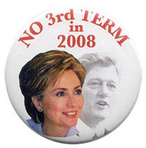 Anti-Hillary Clinton button