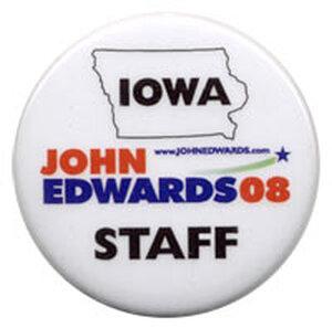 John Edwards button