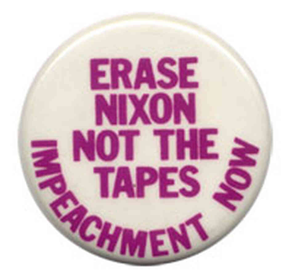 'Erase Nixon Not the Tapes' button