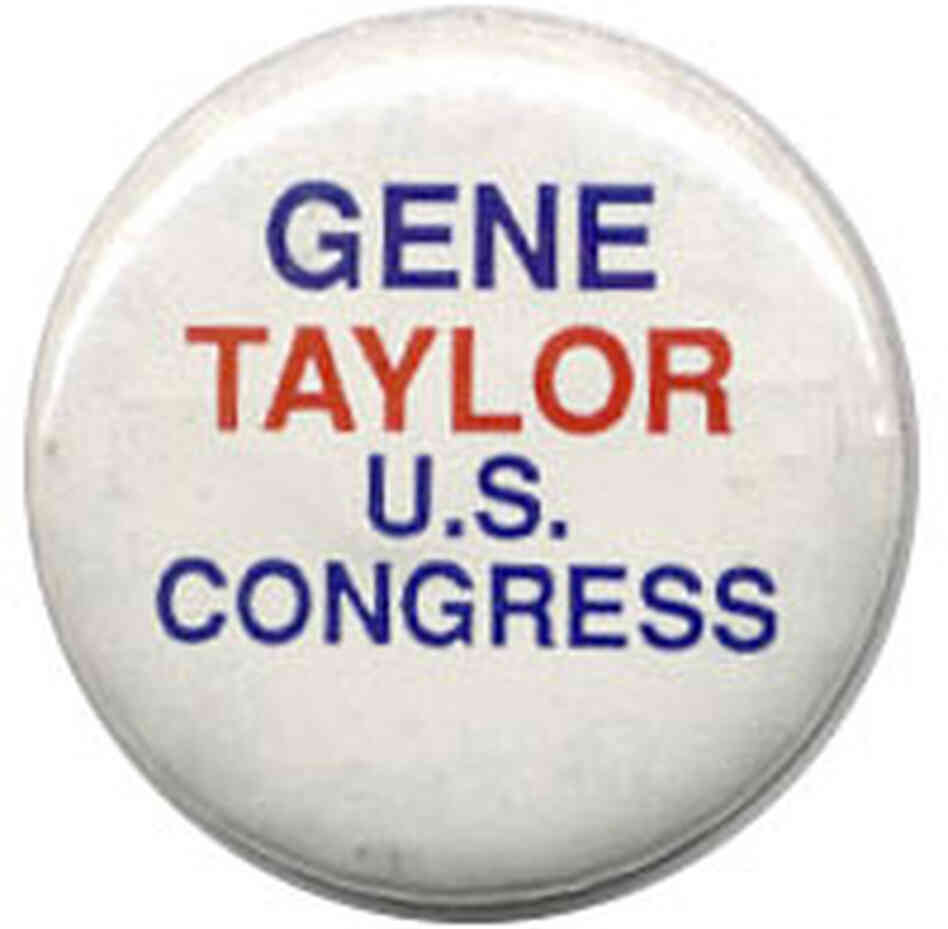 'Gene Taylor for U.S. Congress' button