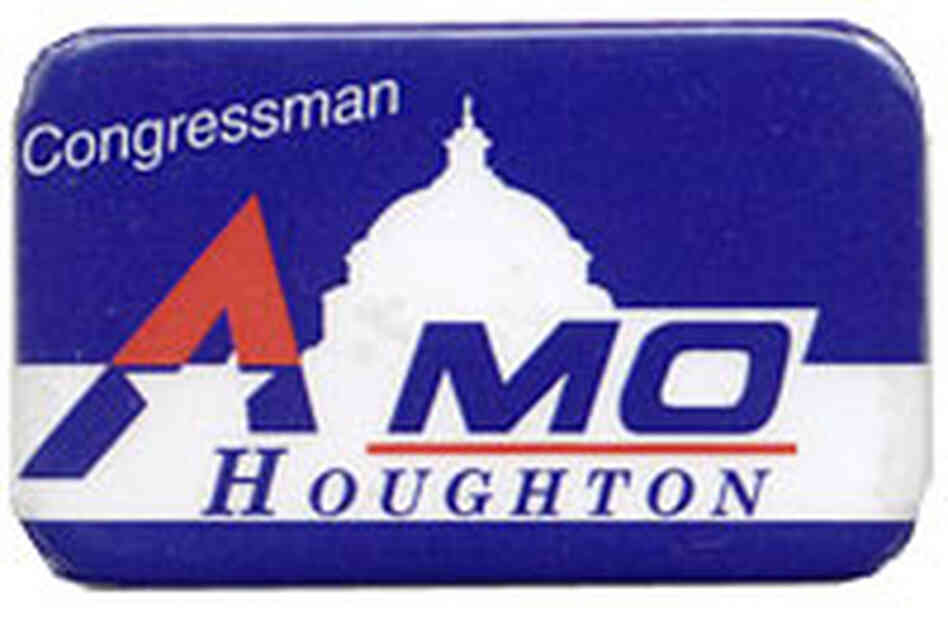 'Congressman Mo Houghton' button
