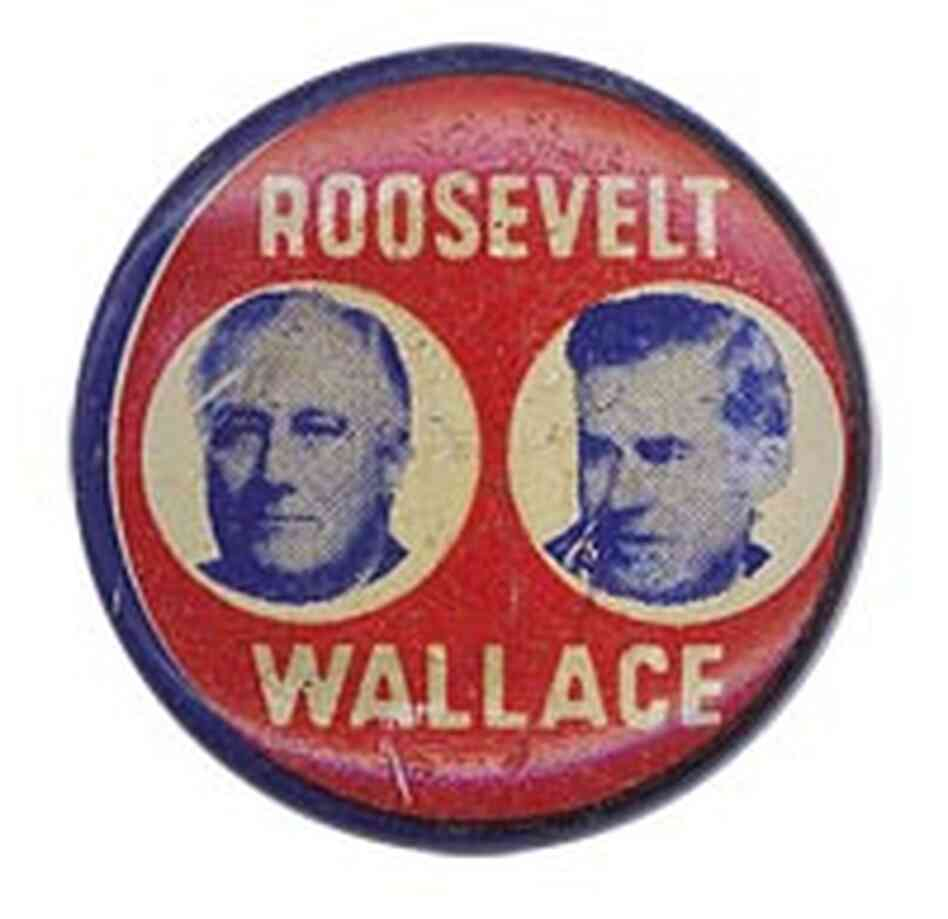 Franklin Delano Roosevelt - Henry Wallace button