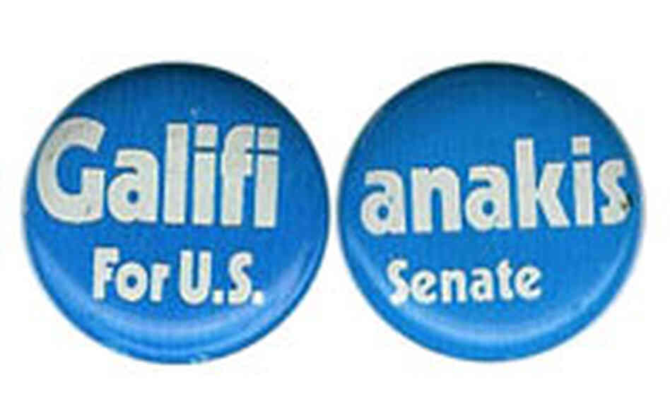 'Galifianakis for U.S. Senate' button