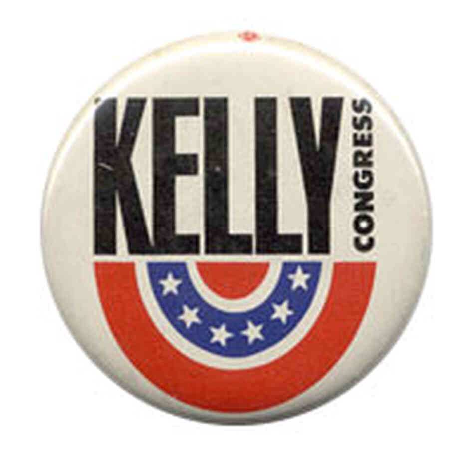 Kelly for Congress button