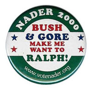 Nader 2000 button