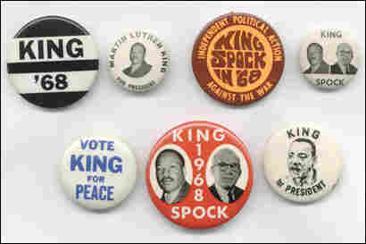 Martin Luther King for president buttons