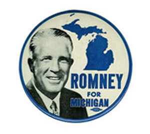 George Romney for Michigan button