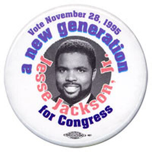 Jesse Jackson Jr. for Congress 1995 campaign button