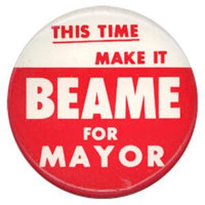 Beame campaign button