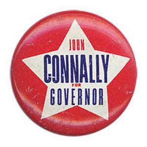 'John Connally for Governor' button