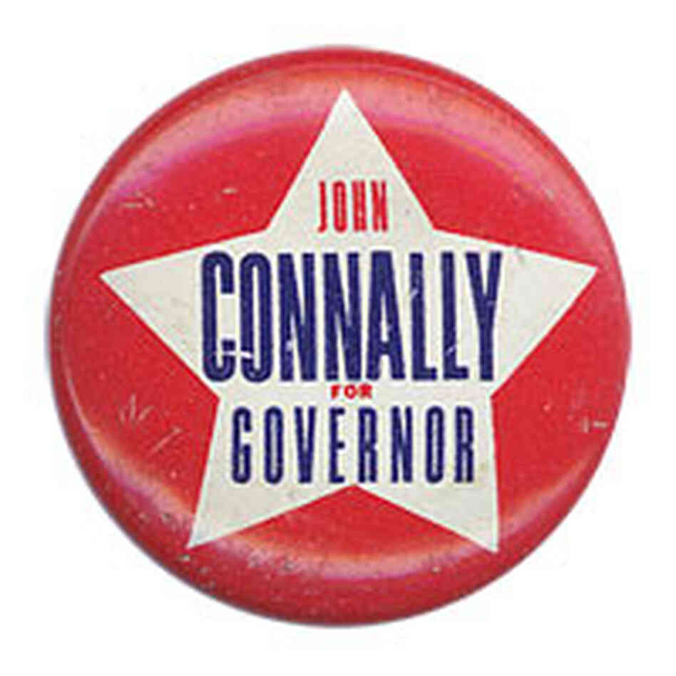 'John Connally for Governor' button