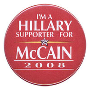 'I'm a Hillary Supporter for McCain' button