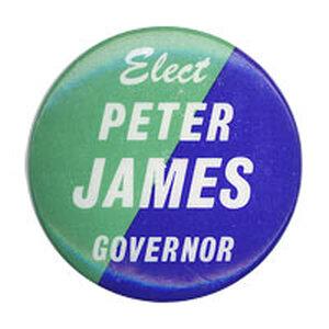 Peter James campaign button