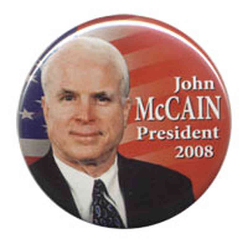 John McCain 2008 button
