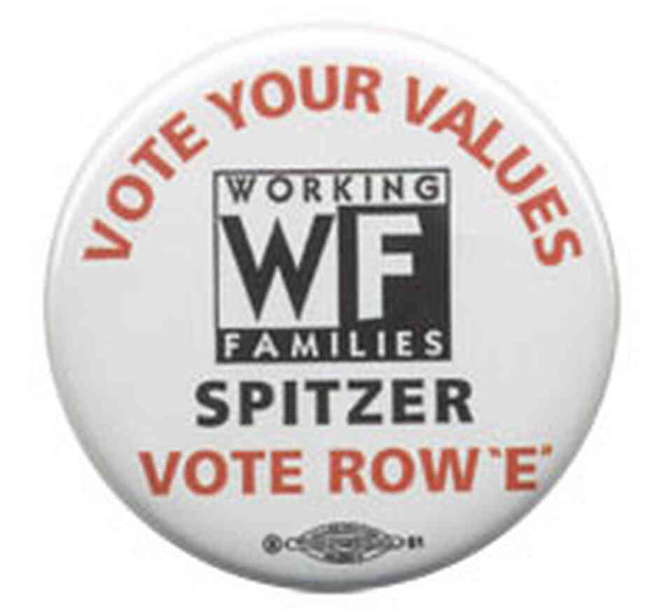 'Vote Your Values' Eliot Spitzer button