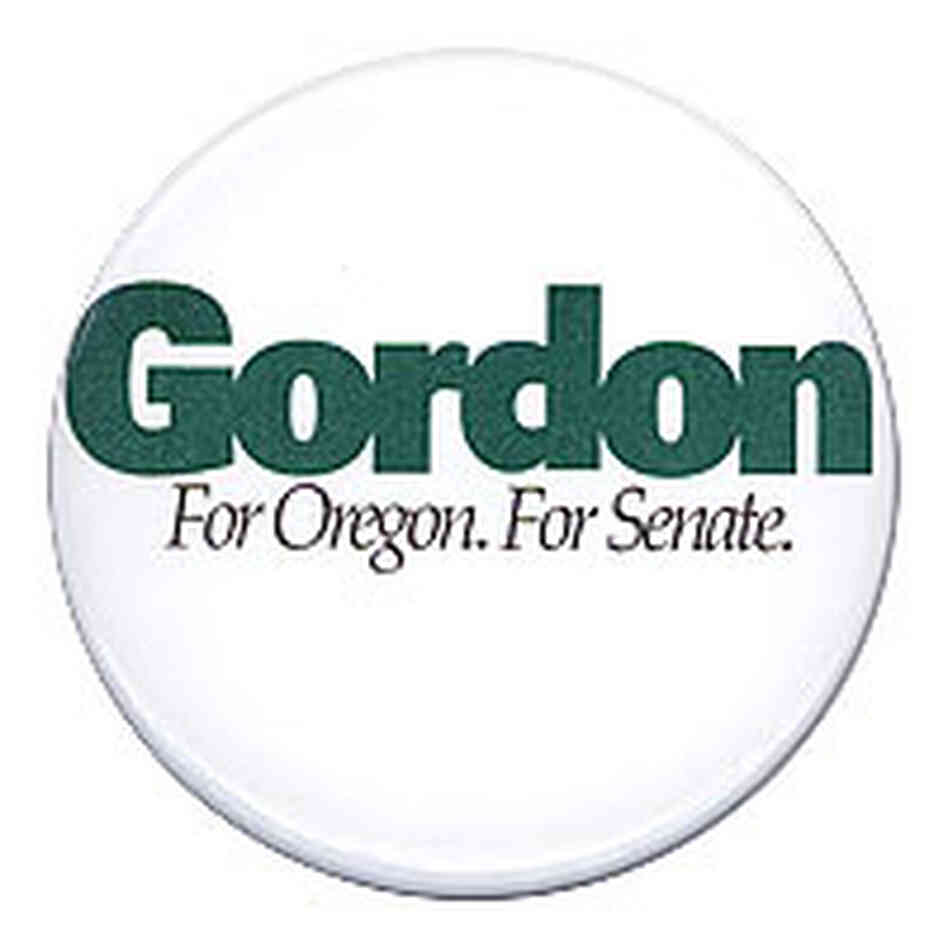 'Gordon for Oregon' button