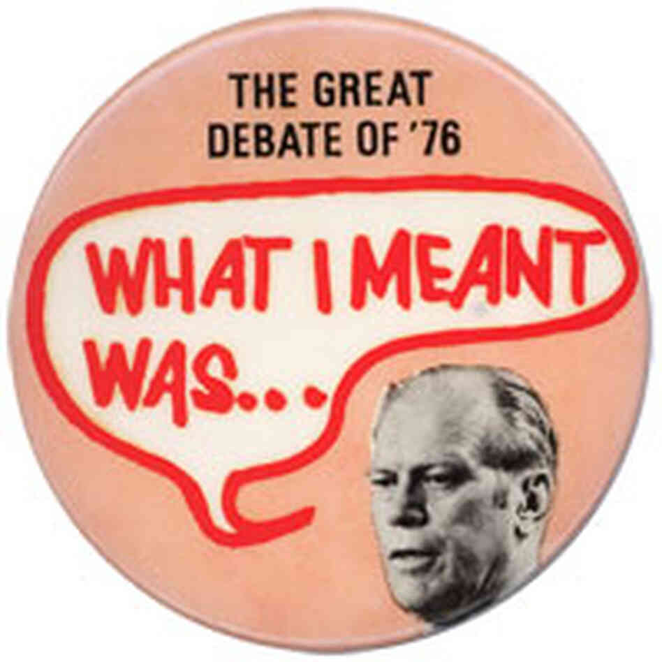 Great Debate of '76 button featuring Gerald Ford