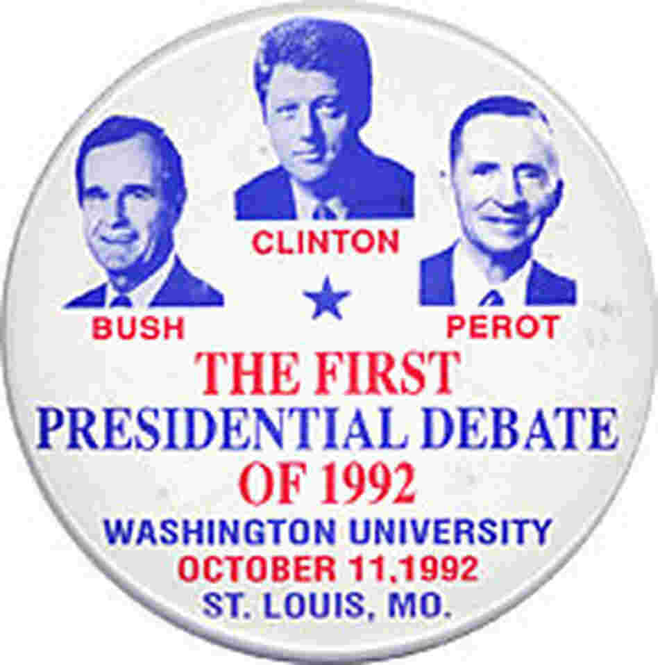 The first presidential debate with three candidates.
