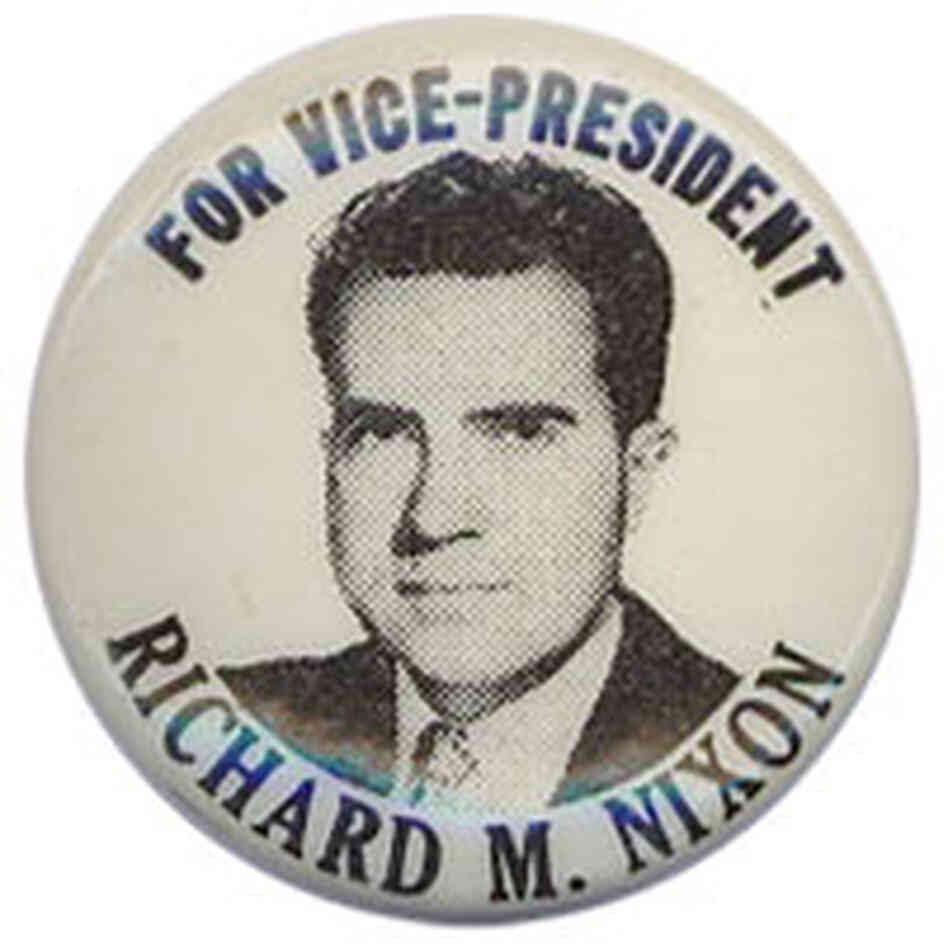 Nixon for vice president button