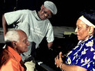 Members of Buena Vista Social Club — Ruben Gonzalez (left), Ibrahim Ferrer (center) and Omara Portuo