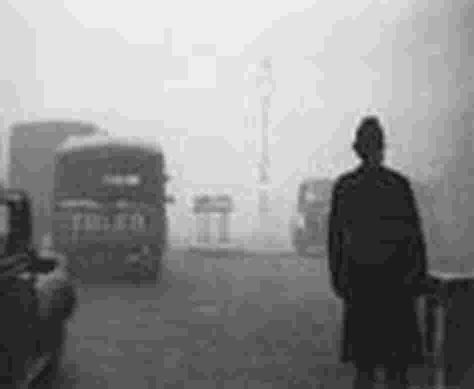 London bobby in the smog.