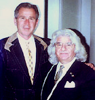 Pres. Bush with tailor Georges De Paris