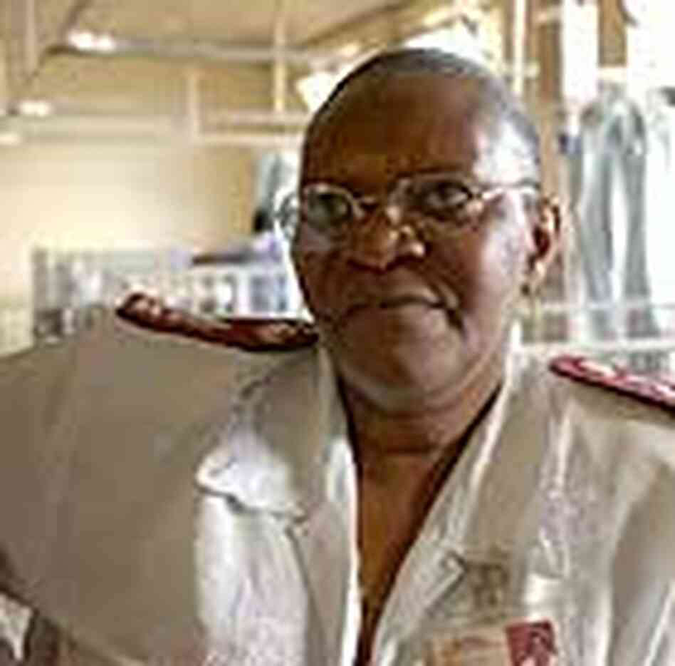 Sister Agnes Ramashiga, an AIDS counselor in South Africa.