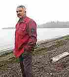 Passamaquoddy tribal governor Melvin Francis stands at the site proposed for the LNG facility.