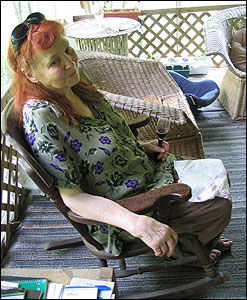 American poet Ruth Stone, at her home in Goshen, Vt. Credit: Andrea Hsu