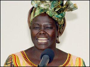 The 2004 Nobel Peace Prize winner,  Kenya's Wangari Maathai.