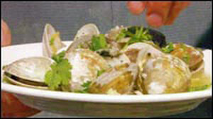 Clams 'Johnson,' Southeast Asian style.